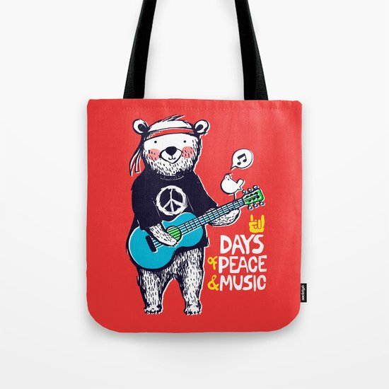 Days Of Peace & Music Tote Bag