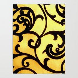 Golden Filigree Poster