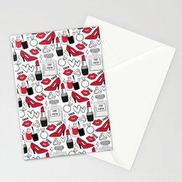 Makeup Pattern Stationery Cards