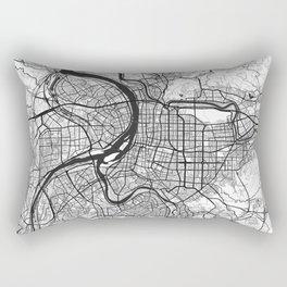 Taipei Map Gray Rectangular Pillow