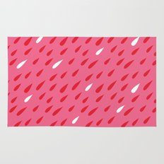 Red + Pink Droplets Rug