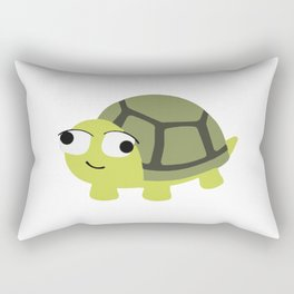 A turtle made it to the water Rectangular Pillow