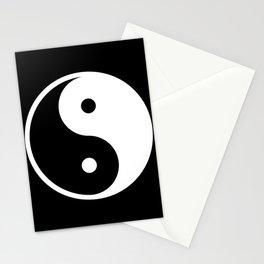Yin & Yang (White & Black) Stationery Cards
