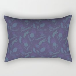 Purple Thistle Rectangular Pillow