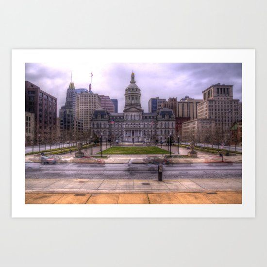 Baltimore City Hall Art Print