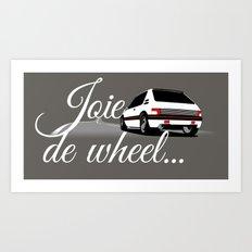 Joie de Wheel Art Print