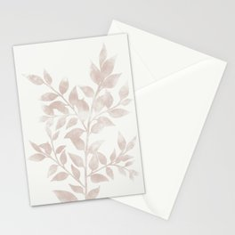 Plant Silhouette 2 Stationery Cards
