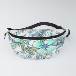 You belong among the wildflowers. Tom Petty quote. Watercolor illustration. Fanny Pack
