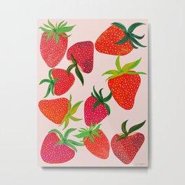 Strawberry Harvest Metal Print