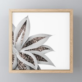 Agave Finesse Glitter Glam #1 #tropical #decor #art #society6 Framed Mini Art Print