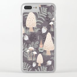 Forest Gnomes Clear iPhone Case