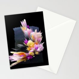 flowers 3d abstract digital painting Stationery Cards