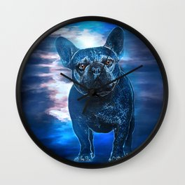 Max the Frenchie Wall Clock