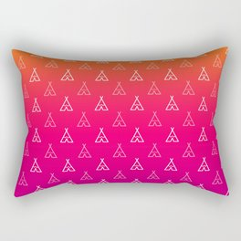 Tripping Tipi Rectangular Pillow