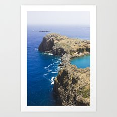 Sea and earth Art Print