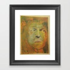 man in the forest Framed Art Print