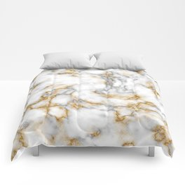 Gold Speckled Marble Comforters