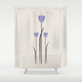 Minimal Bluebells Shower Curtain