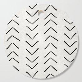 Mud Cloth Big Arrows in Cream Cutting Board