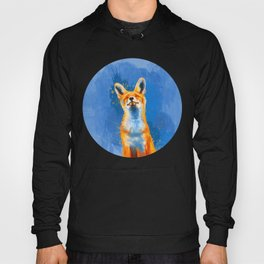 Happy Fox, inspirational animal art Hoody