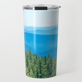 Artistic Brush // Grainy Scenic View of Rolling Hills Mountains Forest Landscape Photography Travel Mug