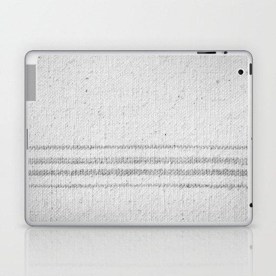 VINTAGE FARMHOUSE GRAIN SACK Laptop & iPad Skin