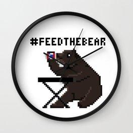 Feed The Bear Wall Clock