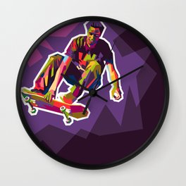 color your skate Wall Clock