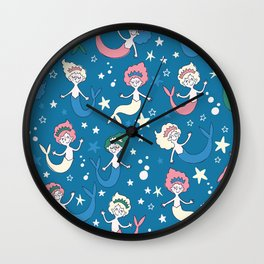 Sleeping mermaids Wall Clock