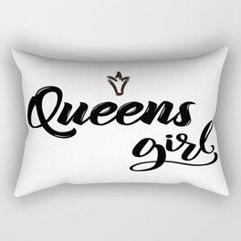 Queens Girl New York Raised Me Rectangular Pillow