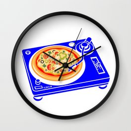 Pizza Scratch Wall Clock