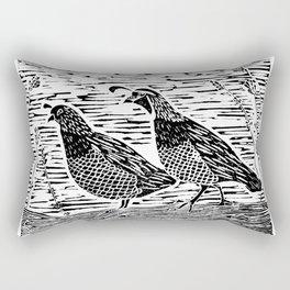 Pair of Quail Rectangular Pillow