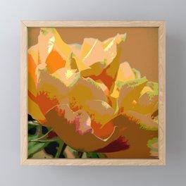 Yellow Rose Framed Mini Art Print