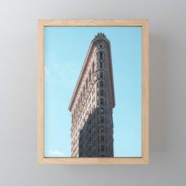 flat iron Framed Mini Art Print
