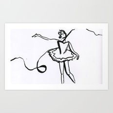 Lily Swan Art Print
