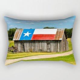 Texas Barn Rectangular Pillow