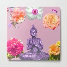 Lavender Buddha Metal Print
