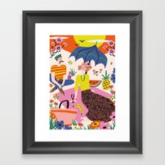 Sunset Picknick Framed Art Print