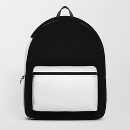 Color Block-Black and White Backpack