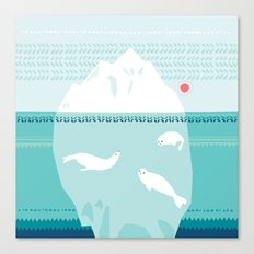 The Ice Lovers Canvas Print