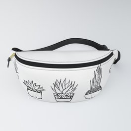 Cacti Line Drawing Fanny Pack