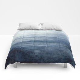Indigo Abstract Painting | No.2 Comforters