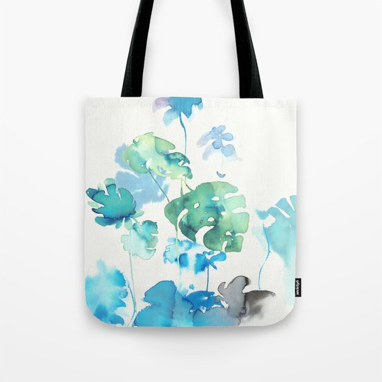 Tropical leaves, (collab Dylan Silva!) Tote Bag