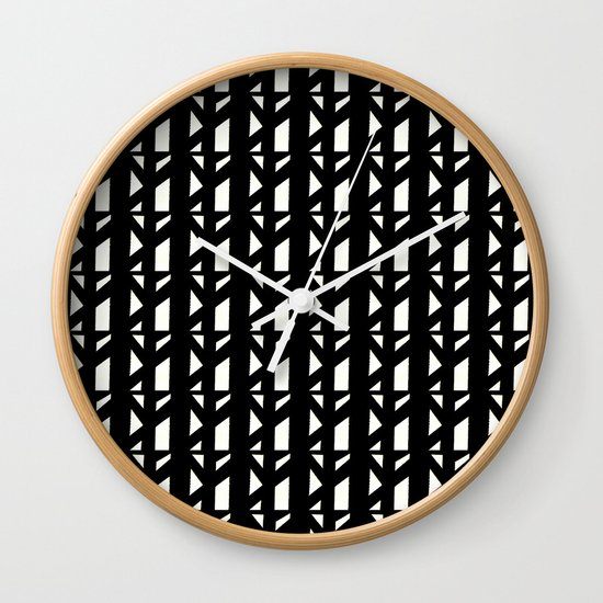 Marsman Black & White Pattern Wall Clock
