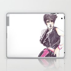 Fashion illustration in magenta Laptop & iPad Skin