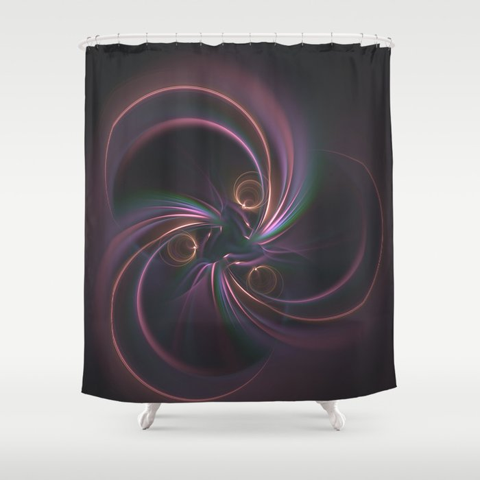 Moons Fractal in Warm Tones Shower Curtain