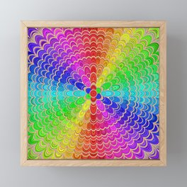 Colorful Mandala Flower Framed Mini Art Print