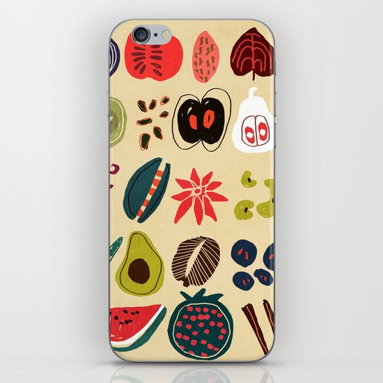 Fruit and Spice Rack iPhone & iPod Skin