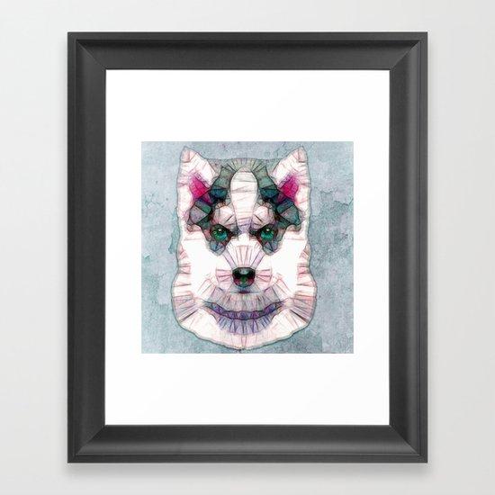 abstract husky puppy Framed Art Print