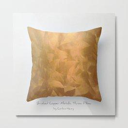 Brushed Copper Metallic Throw Pillow Art Print - Postmodernism - Jeff Koons Inspired Pop Art Metal Print